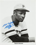 Autographs:Photos, Circa 1970 Roberto Clemente Signed Photograph....