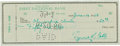 Autographs:Checks, 1956 Ty Cobb Signed Check....