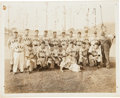 Autographs:Photos, 1944 Portsmouth Cubs Team Signed Photograph with Jimmie Foxx....