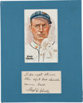 Autographs:Others, 1950's Fred Clarke Signed Note Regarding Spitballs....