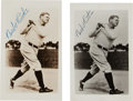 Autographs:Photos, 1948 Babe Ruth Signed Photographs Lot of 2....