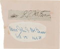 Autographs:Others, Circa 1930 John McGraw Signed Cut Signature....
