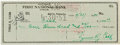 Autographs:Checks, 1951 Ty Cobb Signed Check....