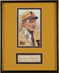 Autographs:Others, Circa 1950 Honus Wagner Signed Cut Signature Display....
