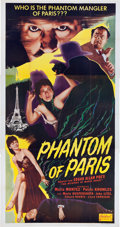Memorabilia:Poster, Phantom of Paris Movie Poster (Realart, 1951).... (Total: 3 Items)
