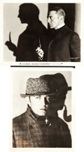 "Movie Posters:Mystery, The Return of Sherlock Holmes (Paramount, 1929). Portrait Photos(2) (8"" X 10"").. ... (Total: 2 Items)"