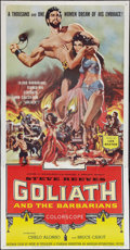 "Movie Posters:Adventure, Goliath and the Barbarians (American International, 1959). ThreeSheet (41"" X 81""). Adventure.. ..."