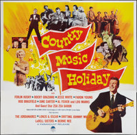 "Country Music Holiday (Paramount, 1958). Six Sheet (81"" X 81""). Musical"