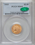 Indian Quarter Eagles: , 1915 $2 1/2 MS64 PCGS. CAC. PCGS Population (694/107). NGC Census:(1225/180). Mintage: 606,000. Numismedia Wsl. Price for ...