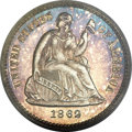 Proof Seated Half Dimes, 1862 H10C PR66 Cameo PCGS. CAC....