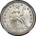 Seated Dimes, 1855 10C Arrows MS65 NGC....