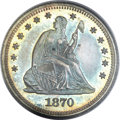 Proof Seated Quarters, 1870 25C PR65 PCGS. CAC....