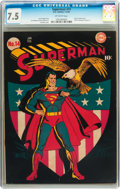 Golden Age (1938-1955):Superhero, Superman #14 (DC, 1942) CGC VF- 7.5 Off-white pages....