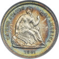 Proof Seated Half Dimes, 1861 H10C PR66 Cameo NGC. CAC....