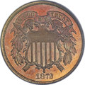 Proof Two Cent Pieces, 1872 2C PR66 Red and Brown PCGS. CAC....