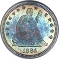 Proof Seated Quarters, 1884 25C PR68 NGC. CAC....