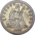 Seated Quarters, 1866-S 25C VF35 PCGS. CAC....