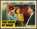 """Movie Posters:Drama, They Drive by Night (Warner Brothers, 1940). Lobby Card (11"""" X 14""""). Drama.. ..."""