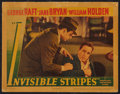 """Movie Posters:Crime, Invisible Stripes (Warner Brothers, 1939). Lobby Card (11"""" X 14"""").Crime.. ..."""