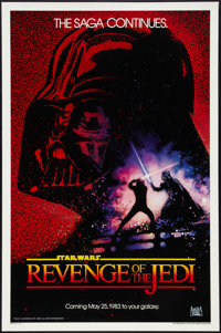 "Revenge of the Jedi (20th Century Fox, 1982). One Sheet (27"" X 41"") Teaser, Date Style. Science Fiction"