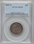 Seated Quarters: , 1859-O 25C XF45 PCGS. PCGS Population (8/25). NGC Census: (2/26).Mintage: 260,000. Numismedia Wsl. Price for problem free ...