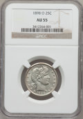Barber Quarters: , 1898-O 25C AU55 NGC. NGC Census: (4/45). PCGS Population (9/62).Mintage: 1,868,000. Numismedia Wsl. Price for problem free...