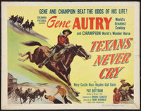 """Texans Never Cry (Columbia, 1951). Half Sheet (22"""" X 28"""") Style A. Western"""