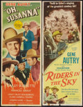 "Movie Posters:Western, Riders in the Sky and Other Lot (Columbia, 1950). Inserts (2) (14"" X 36""). Western.. ... (Total: 2 Items)"