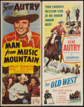 """Movie Posters:Western, The Old West and Other Lot (Columbia, 1952). Inserts (2) (14"""" X 36""""). Western.. ... (Total: 2 Items)"""
