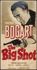 "Movie Posters:Crime, The Big Shot (Warner Brothers, 1942). Three Sheet (41"" X 81""). Crime.. ..."