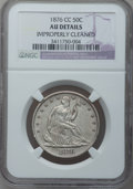 Seated Half Dollars: , 1876-CC 50C -- Improperly Cleaned -- NGC Details. AU. NGC Census:(4/103). PCGS Population (22/138). Mintage: 1,956,000. Nu...