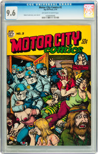 Motor City Comics #2 First Printing (Rip Off Press, 1970) CGC NM+ 9.6 Off-white to white pages