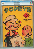 Platinum Age (1897-1937):Miscellaneous, Feature Books #2 Popeye (David McKay Publications, 1937) CGC VF 8.0Off-white to white pages....