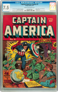 Golden Age (1938-1955):Superhero, Captain America Comics #2 (Timely, 1941) CGC VF- 7.5 Cream to off-white pages....