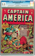 Golden Age (1938-1955):Superhero, Captain America Comics #4 (Timely, 1941) CGC VG- 3.5 Cream to off-white pages....