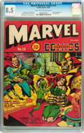 Golden Age (1938-1955):Superhero, Marvel Mystery Comics #12 (Timely, 1940) CGC VF+ 8.5 Light tan to off-white pages....