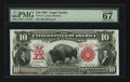 Large Size:Legal Tender Notes, Fr. 114 $10 1901 Legal Tender PMG Superb Gem Uncirculated 67 EPQ.....