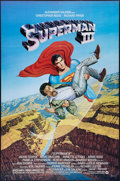 """Movie Posters:Action, Superman III (Warner Brothers, 1983). One Sheet (27"""" X 41"""") &Lobby Card Set of 8 (11"""" X 14""""). Action.. ... (Total: 9 Items)"""