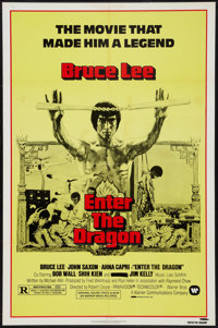 "Enter the Dragon & Other Lot (Warner Brothers, R-1979). One Sheets (2) (27"" X 41"") & Lobby Car..."