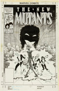 Original Comic Art:Covers, Bret Blevins The New Mutants #49 Cover Original Art (Marvel,1987)....