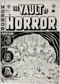 "Original Comic Art:Covers, Johnny Craig Vault of Horror #27 ""Strictly From Hunger""Cover Original Art (EC, 1952)...."