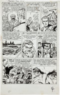 Original Comic Art:Panel Pages, Jack Kirby and Dick Ayers Fantastic Four #15 FirstAppearance of The Mad Thinker page 4 Original Art (Marvel, 1963...
