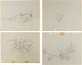 Animation Art:Production Drawing, Mickey Mouse Production Drawing Animation Art Group (Disney,1933-36).... (Total: 4 Original Art)