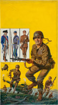 Original Comic Art:Covers, Doug Roea The World Around Us #9 The Illustrated Story ofthe Army Painted Cover Original Art (Gilbert...