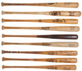 Baseball Collectibles:Bats, Circa 1980's/90's Atlanta Braves Signed and Unsigned Game Used Bats Lot of 9. ...