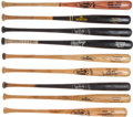 Baseball Collectibles:Bats, Circa 1980's/90's Los Angeles Dodgers Game Used, Signed and Unsigned Bats Lot of 9. ...