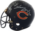 Football Collectibles:Helmets, Chicago Bears Greats Multi Signed Game Worn Helmet....