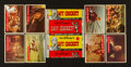 Non-Sport Cards:Sets, 1956 Topps Davy Crockett - Green Backs Complete Set (80) PlusWrapper. ...