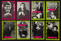 "Non-Sport Cards:Sets, 1968/69 Philadelphia Gum ""Dark Shadows"" Pink and Green CompleteSets (2) Plus Wrapper. ..."