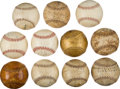Autographs:Baseballs, 1910's-30's Hank Severeid Personal Baseball Collection Lot of11....